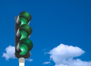 Semáforo en verdes