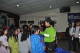 El salón comunal del barrio La Ponderosa en Bogotá fue uno de los escenarios de reunión de los niños y niñas con la Secretaría Distrital de Movilidad.