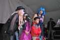 La obra de teatro sobre educación vial preparada por el grupo de pedagogía de la Secretaría Distrital de movilidad cuenta con la participación activa del público de niños y niñas.