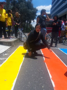 Adriana Córdova, Veedora Distrital acompañó la jornada del 27 de abril de 2013 de Cebras por la vida. (Foto: Guillermo Camacho-Cabrera)