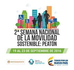 Pieza promocional de la Segunda semana nacional de la movilidad sostenible (Fuente: Mintransporte)